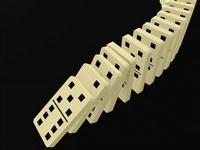 Matematica: per effetto domino, tessera che segue non piu' del doppio di quella che precede