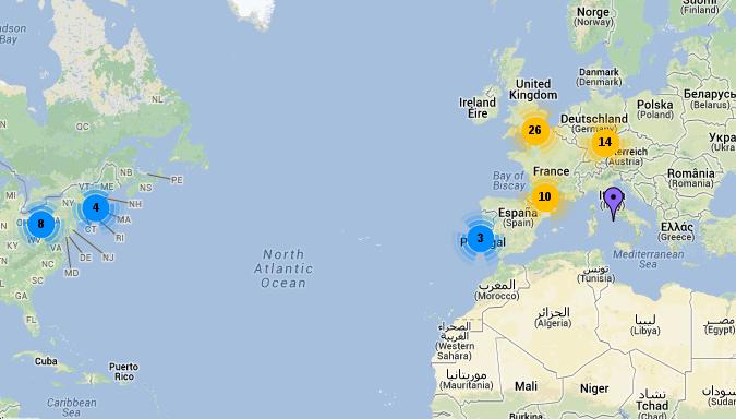 Iniziativa UMI: Mappa dei matematici italiani all'estero