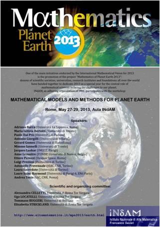 Il Workshop INdAM e altri eventi MPE2013 in Italia