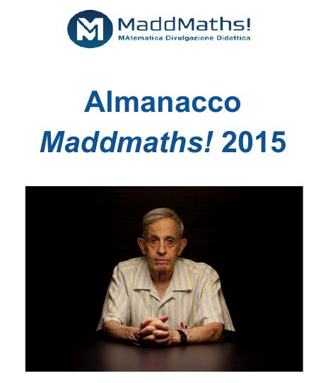 Anche quest'anno non può mancare l'Almanacco MaddMaths! 2015