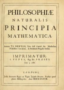 Frontespizio del libro di Isaac Newton.