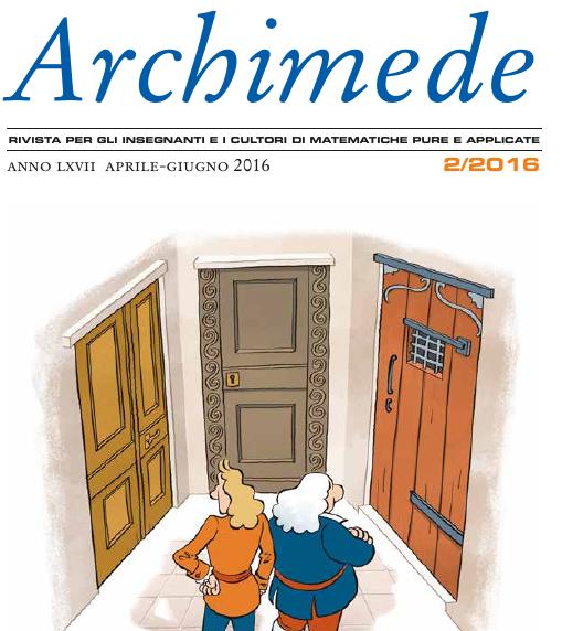 Esce il n. 2-2016 di Archimede (qui trovate qualche sostanziosa anteprima…)