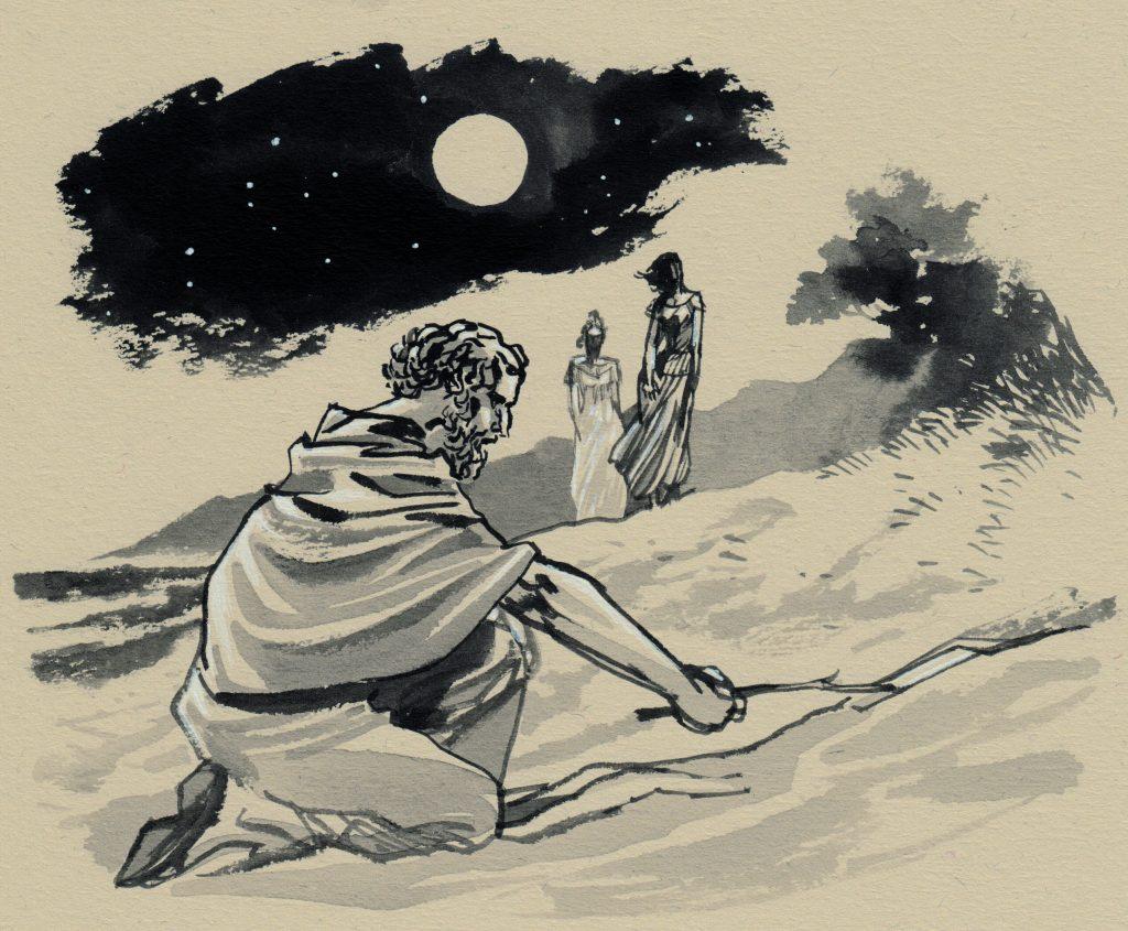 Dettaglio di uno dei disegni di Archimede Infinito, di Giuseppe Palumbo