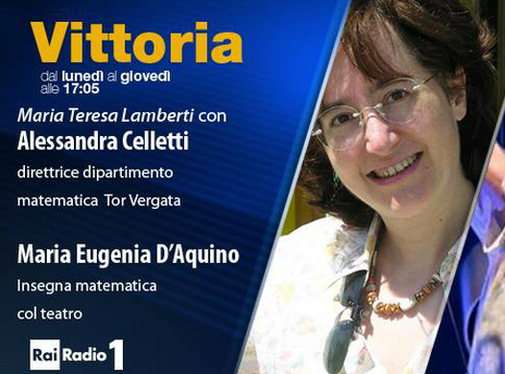 Vittoria, Rai Radio1: le donne e la scienza (con Alessandra Celletti, trasmissione dell'11 aprile 2017)