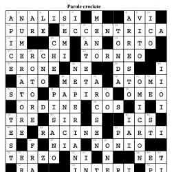 Enigmistica matematica - soluzioni dei giochi di Archimede 1/2020