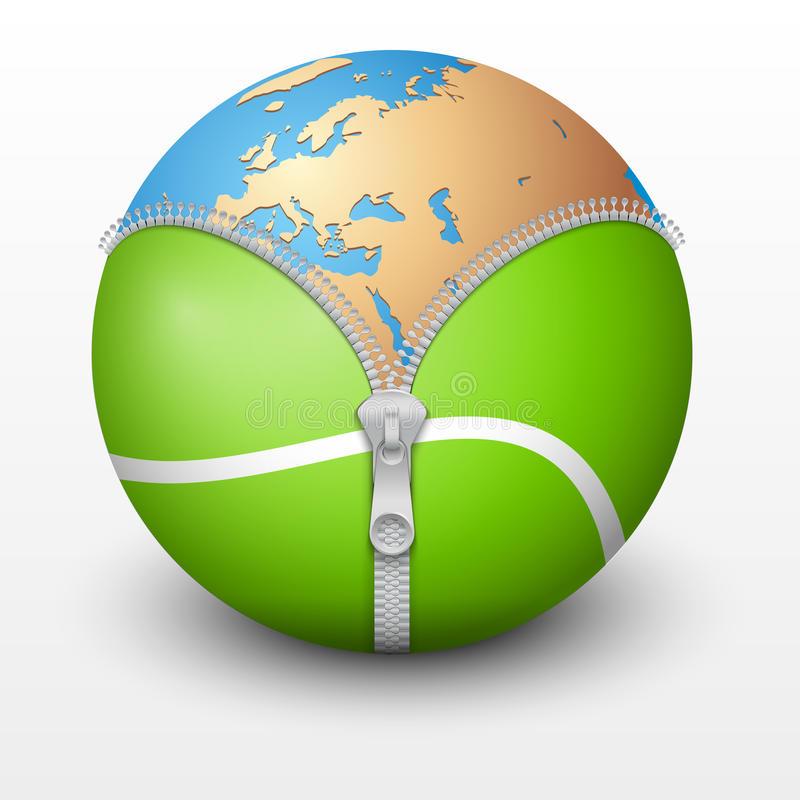 La terra dentro una pallina