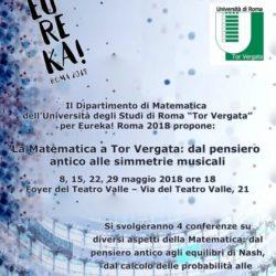 Conferenze Eureka - Matematica Tor Vergata al Teatro Valle