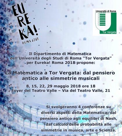 Conferenze Eureka – Matematica Tor Vergata al Teatro Valle