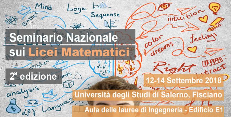 Seminario Nazionale sui Licei Matematici, Fisciano, 12-14 settembre 2018