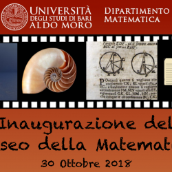 Inaugurazione del Museo della Matematica dell'Università di Bari