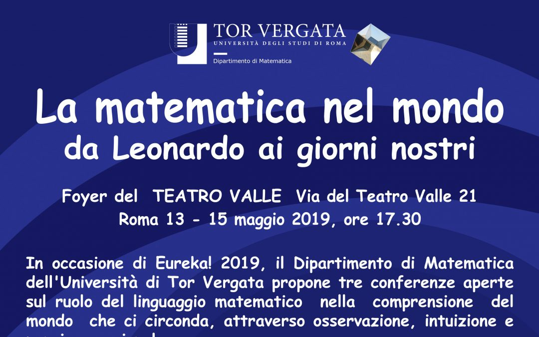 La matematica nel mondo  al teatro Valle di Roma