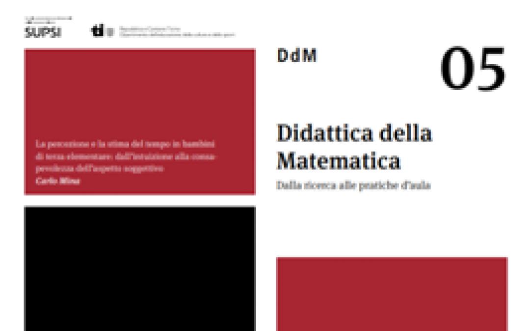 """È online il numero 5 di """"Didattica della Matematica"""""""