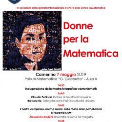Donne per la Matematica, Camerino, 7 Maggio 2019