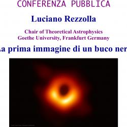 La prima immagine di un buco nero -- conferenza pubblica di Luciano Rezzolla a Tor Vergata (20 maggio 2019)