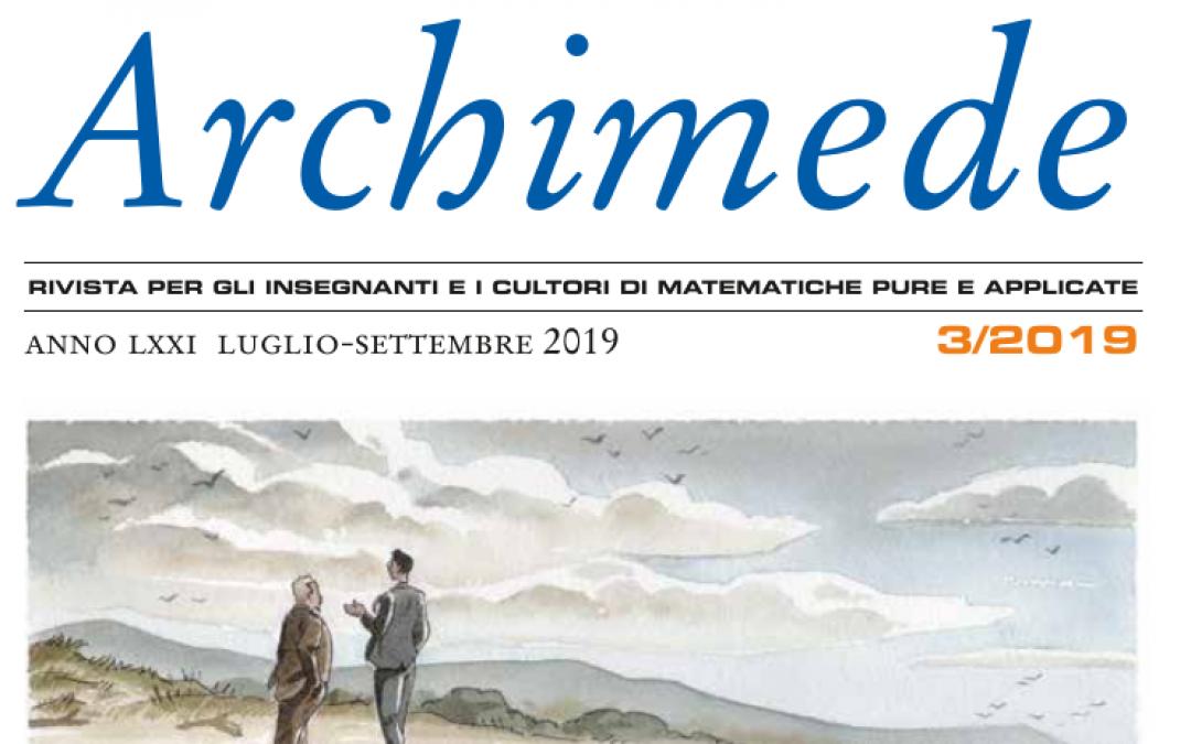 È uscito Archimede 3/2019