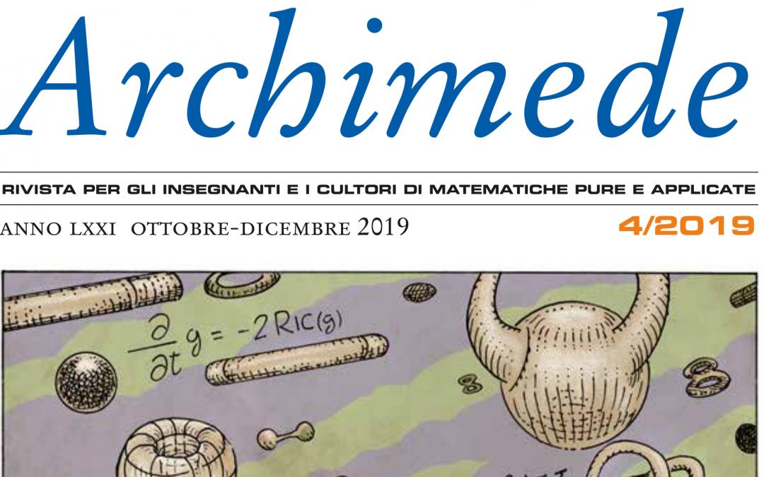 Archimede 4/2019 è stato pubblicato