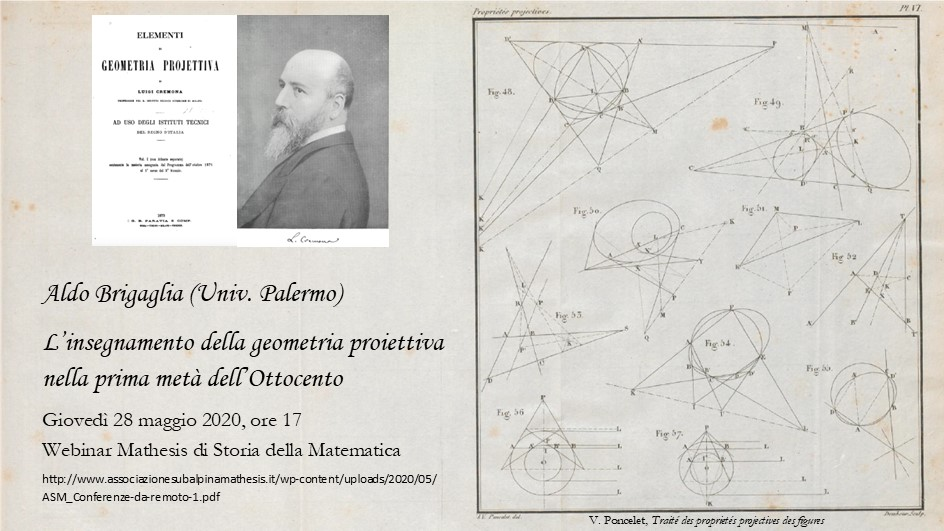 Conferenza di Storia della Matematica via Webinar 28 maggio