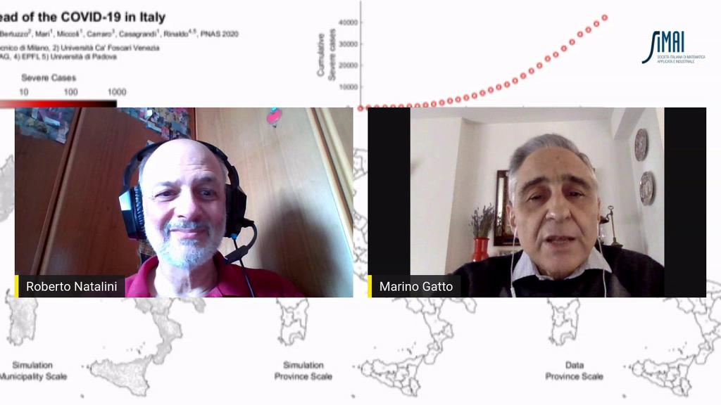 Intervista video con il prof. Marino Gatto, ecologo, sui modelli di propagazione del Covid-19