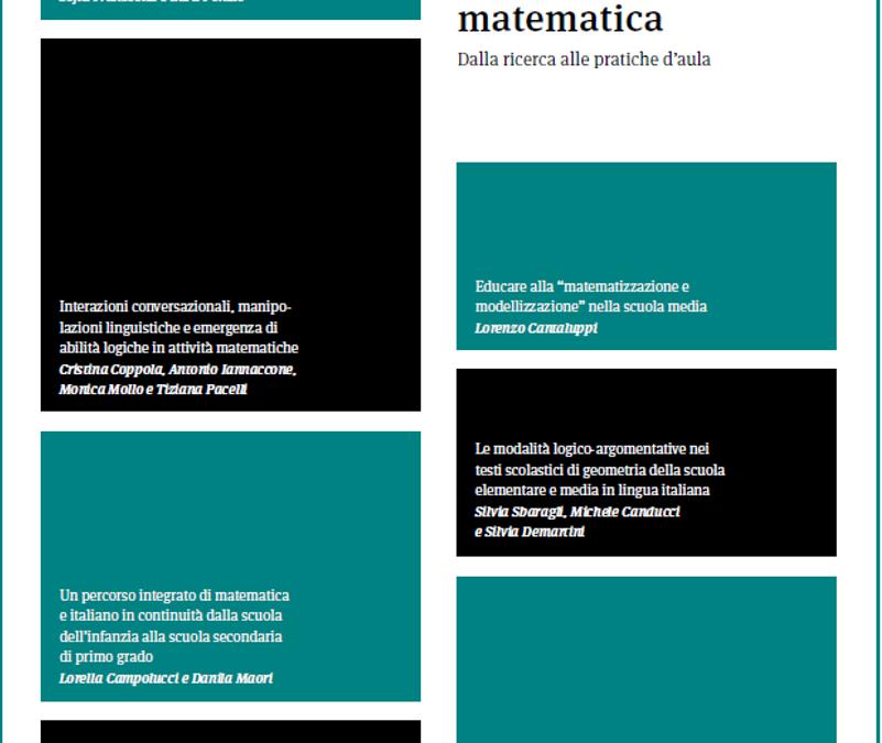 """Matematica e Italiano – Numero speciale della rivista """"Didattica della Matematica"""""""