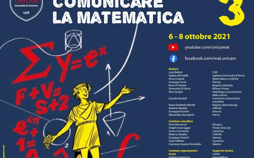 A Camerino il convegno Comunicamat – Comunicare la Matematica